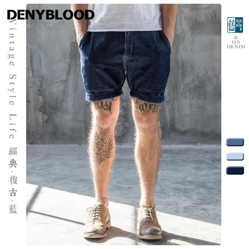 Wholesale- 2017 Summer Mens Distressed Jeans Ripped Denim Shorts Vintage Washed Hole Capris Short Pants Mermuda 506-1