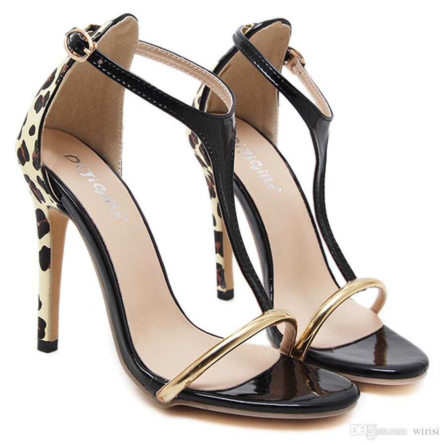 f6bca2aa175 New Women Cheap Heels Online Shopping Sexy Ladies Leopard Pu High Heels  Pumps Shoes Fashion Evening Footwear Party Outlet Sale Silver Sandals Gold  Sandals …