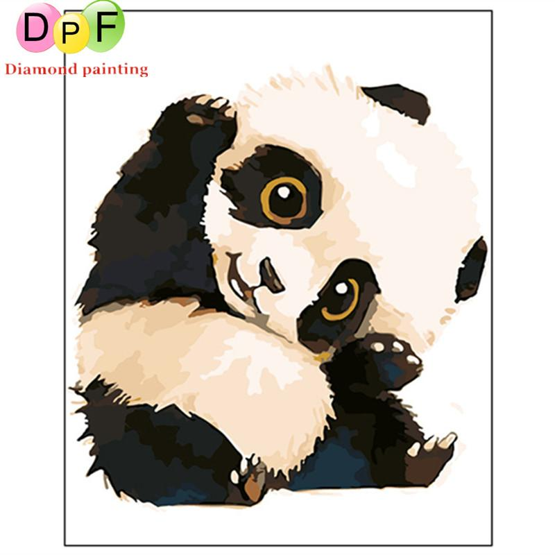 Dpf Frameless The Panda Painting By Numbers Unique Gift