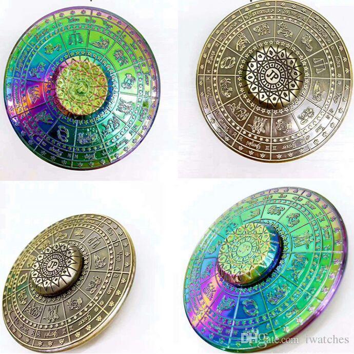 Egyptian Zodiac Fid Spinner 4 Style UFO Hand Spinner Zinc Alloy