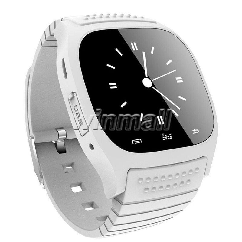 M26 Sport Bluetooth Smart Watch Роскошные наручные часы с циферблатом SMS напоминают шагомер для телефона Android iPhone 7