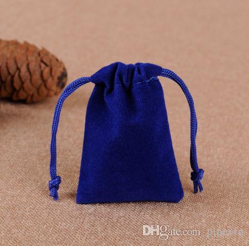 Mix Farbe 7x9cm Velvet Kordel Tasche / Schmuck Tasche Weihnachten / Hochzeit Geschenk-Taschen NE813