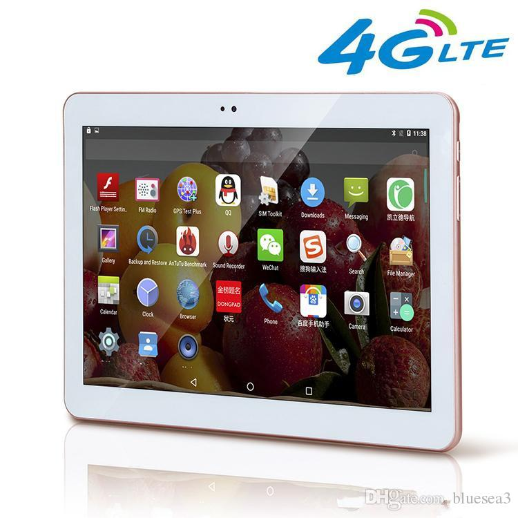 Hot sale 2017 New 4G LTE 10.1 inch Tablet PC Octa Core IPS Bluetooth RAM 4GB ROM 64GB 4G Dual sim Phone Android 6.0 GPS 10 shipping for free