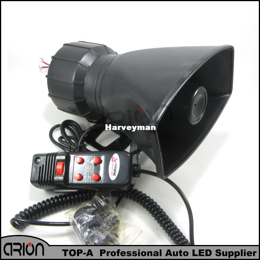 New Hot Loud Horn Siren 12V for Car Speaker 5 Sounds Tone PA System 60W Max  300db free shipping
