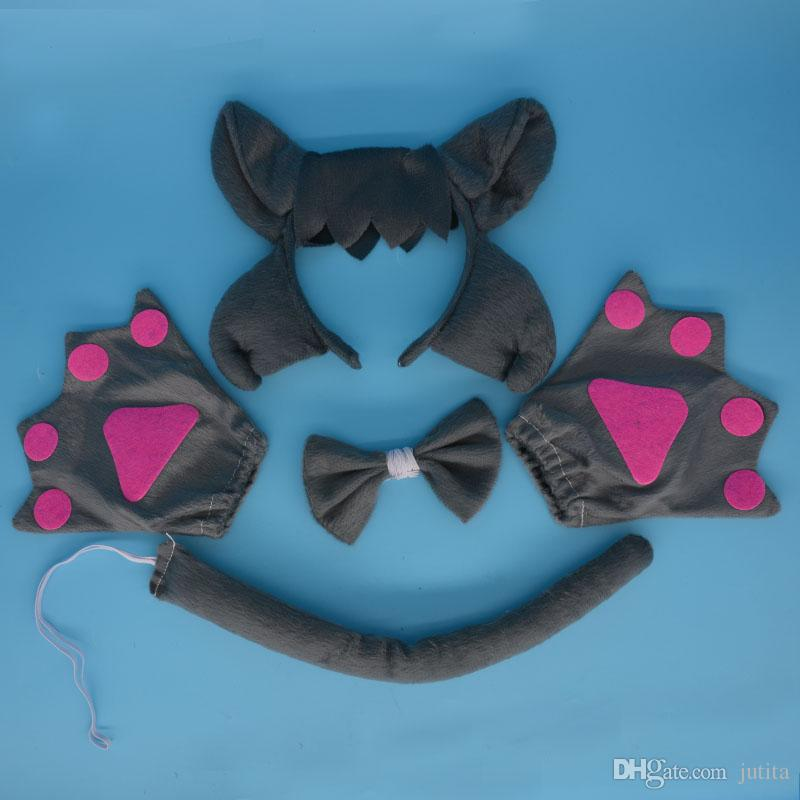 Princess Prince Girl Kids Animal Ear Headband Wolf Cosplay Party Favors Halloween Stage Show Hair Accessories