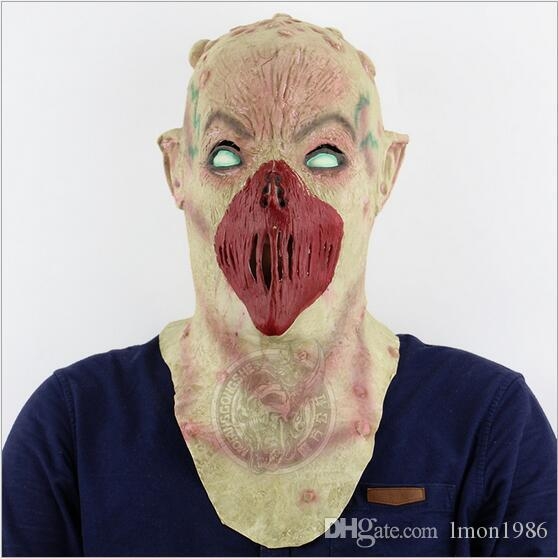 Top Grade Scary Devil Zombie Mask Halloween Cosplay Party Horror Monster Skull Head Mask Ghost Zombie devil face mask full head cap for COS