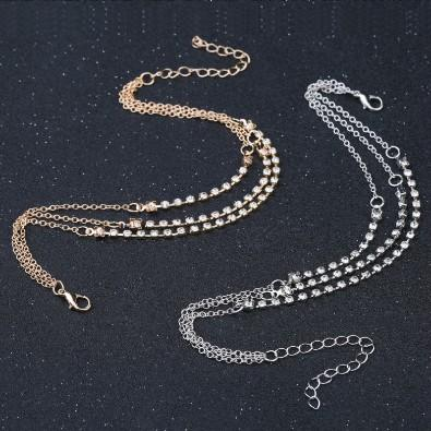 Punk Ankle Bracelet Chain Claw Link Rhinestone Multi Layered Anklet Chain Foot Chains Barefoot Beach Sandals Gothic Girls Anklets