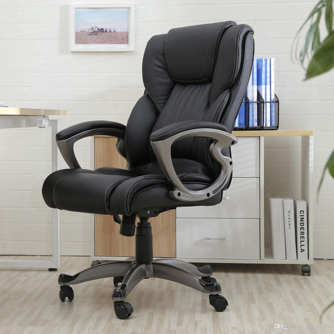 Black Pu Leather High Back Office Chair Executive Task Ergonomic Computer Desk With 77 6 Piece On Luluge998 S Dhgate Com
