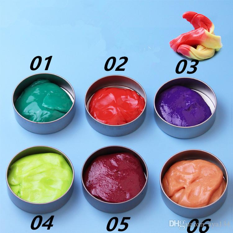 ful Art Discolored clay Mud Swallowed Magnet Muds Handmade Playdough Education Fun Kids Toy Gift For Baby Plasticene Puzzle A1710