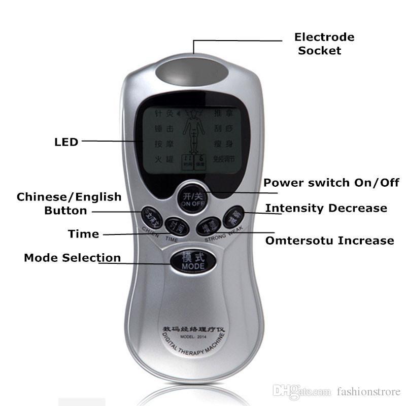6 Pads Health Care Dezenas elétricos Acupuntura Massagem Terapêutica Full Body Massager Máquina Digital Para Voltar Neck Pé Amy Leg Pain Relief