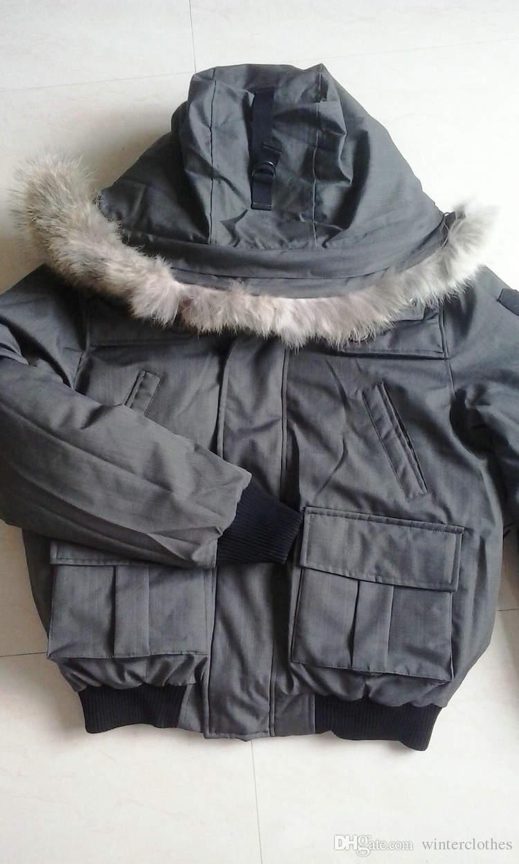 NM01 Bombacı ceket erkekler Gerçek Kürk Yaka parka Sıcak Kalın Aşağı Palto Anorak Ördek Yorgan Erkek Giysileri