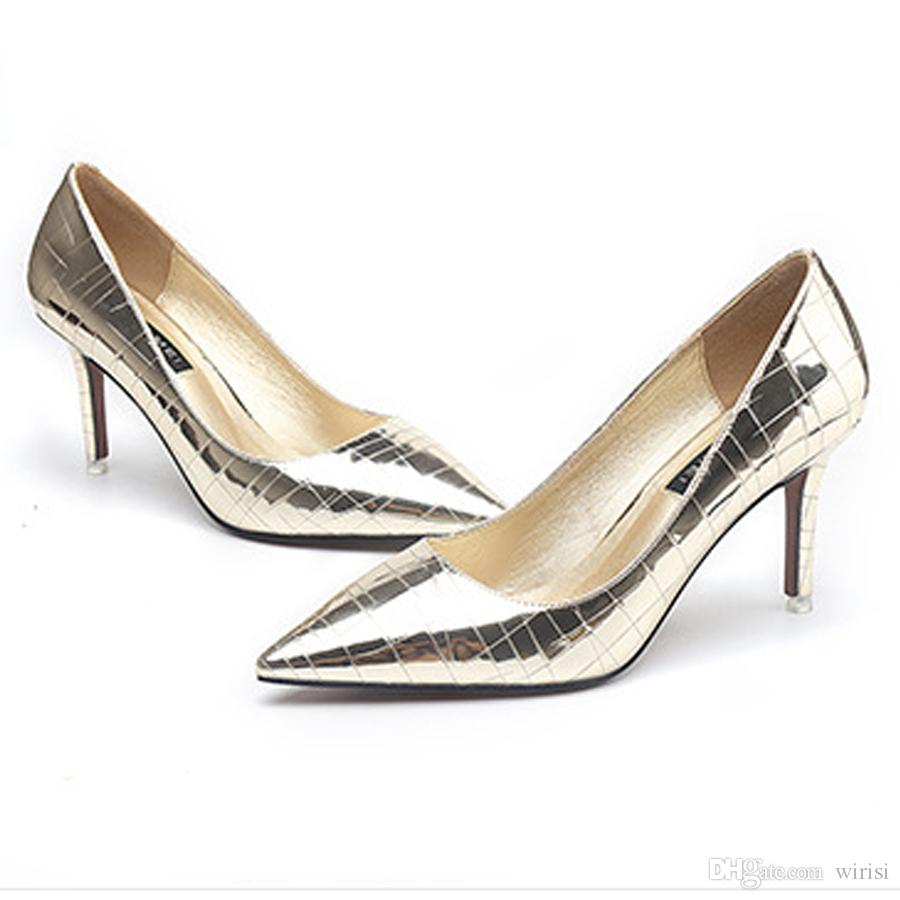 82a9ef13726 Acheter Style Escarpins Femme Escarpins Pas Cher Sexy Dames Chaussures  Achats En Ligne Soirée Filles Talons Hauts Acheter Designer Outlet  Chaussures De ...