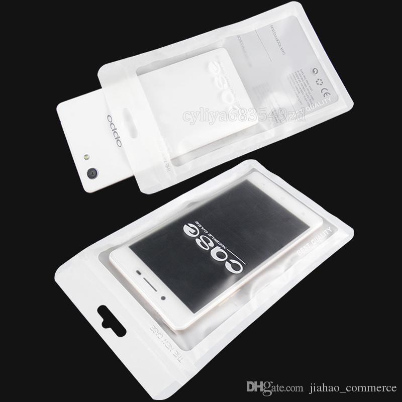 12 * 21 cm beyaz Zip kilit Cep telefonu aksesuarları kılıf kulaklık alışveriş ambalaj çanta OPP PP PVC Poli plastik ambalaj çanta