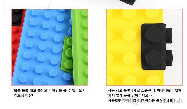 Unique Creative Building Blocks Note Book A6 Size Colorful Notebook Silicone Building Block Diary Vintage Composition Book DHL Free