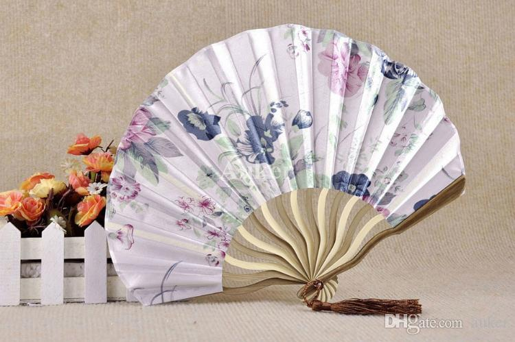 Chinese Classical Printing Peony Flower Folding Curving Bamboo Hand Craft Fan Wedding Favors Gift Fans for Adult Festival+ DHL