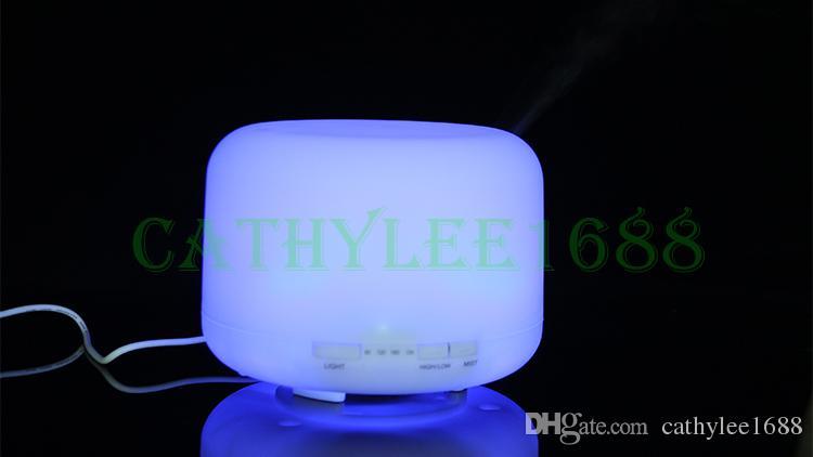 جديد 500 ملليلتر / 300 ملليلتر اللون للتغيير الصمام الخفيفة الضروري النفط رائحة الناشر بالموجات الهواء المرطب ضباب صانع للمنزل نوم شحن مجاني