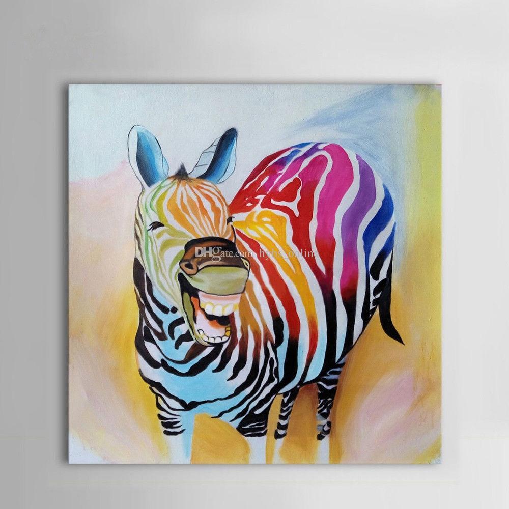 Compre Enmarcado Puro Pintado A Mano Moderno Arte Animal Abstracto ...