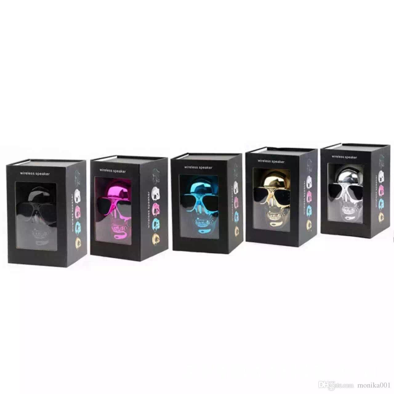 Altoparlanti wireless con altoparlante Bluetooth stile SKULL con funzione NFC