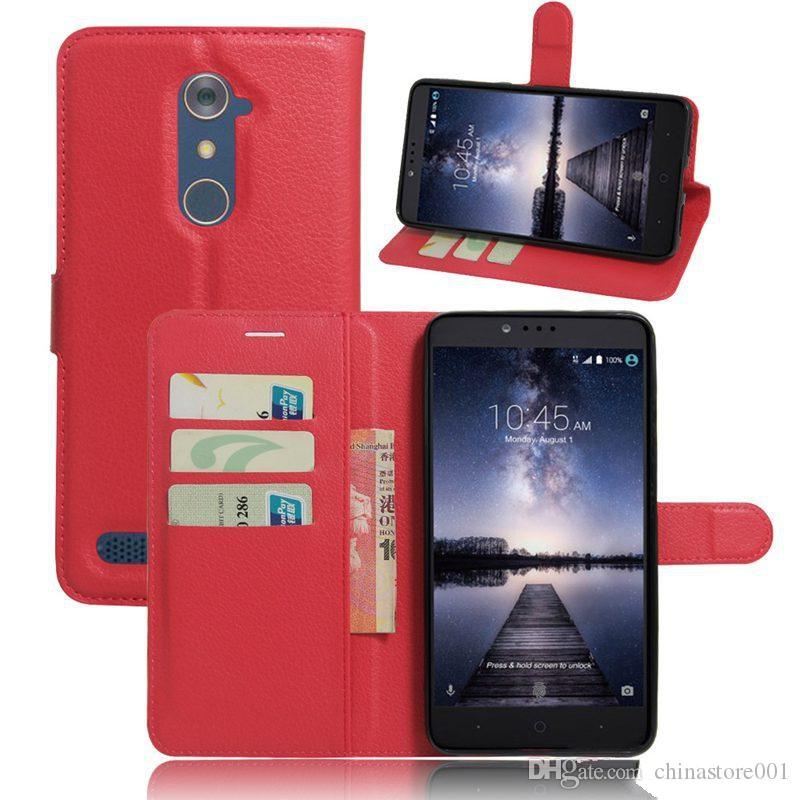 hot sale online 39b3d 993c3 For ZTE Zmax Pro Z981 Cases Cover Popular Wallet Case Leather Skin Flip  Shell Protective Phone Bags Zmax Pro Z981 case 9 Color