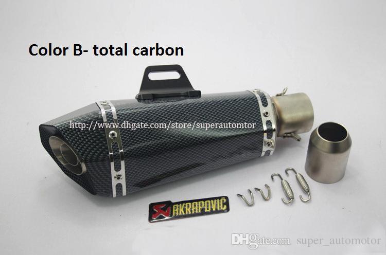 Universal Refit Edelstahl Carbon Titan YZF-R3 Motorrad Auspuff Schalldämpfer Für Durchmesser 48mm / 51mm 125-600CC Nizza Sound