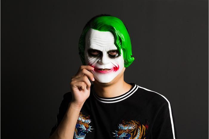 Terrorista V máscara de payaso vio cráneos fantasmas Esparta para vendetta Halloween baile adultos masculinos muchos tipos máscaras