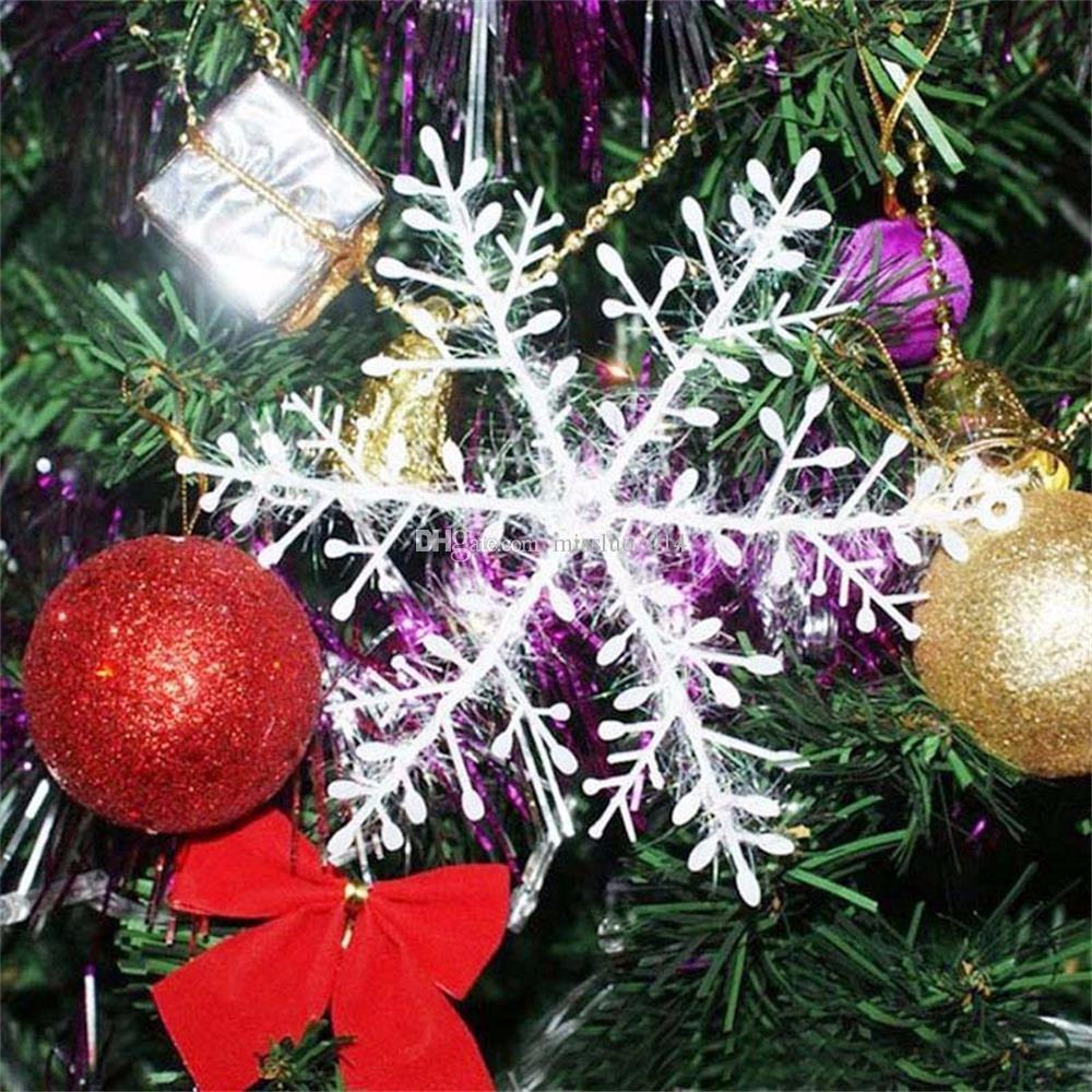 Hot selling Snowflake Christmas supplies Size 11x11 cm Christmas decoration white Christmas hanging decoration FEDEX DHL Free shiping