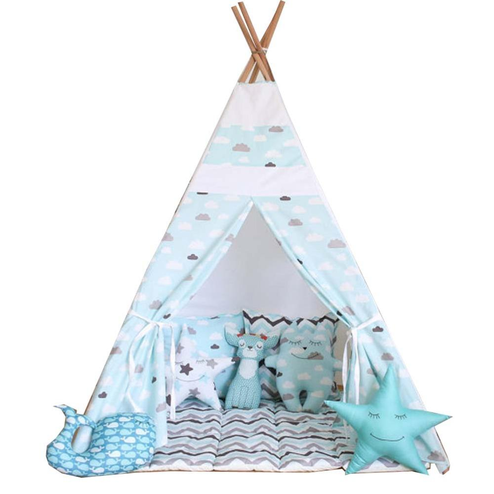 Wholesale Free Love Blue Cloud Kids Play Tent Indian