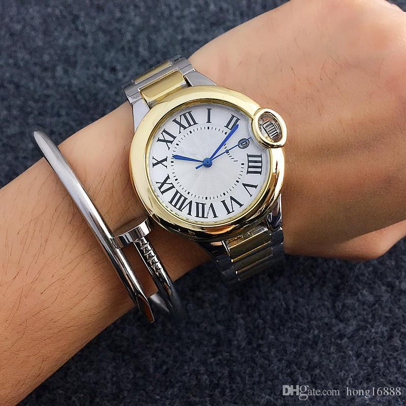 Модные женские кварцевые часы Rome Word Dial Style Watches Роскошное платье дизайнерской моды Steel Strip Кварцевые часы оптом
