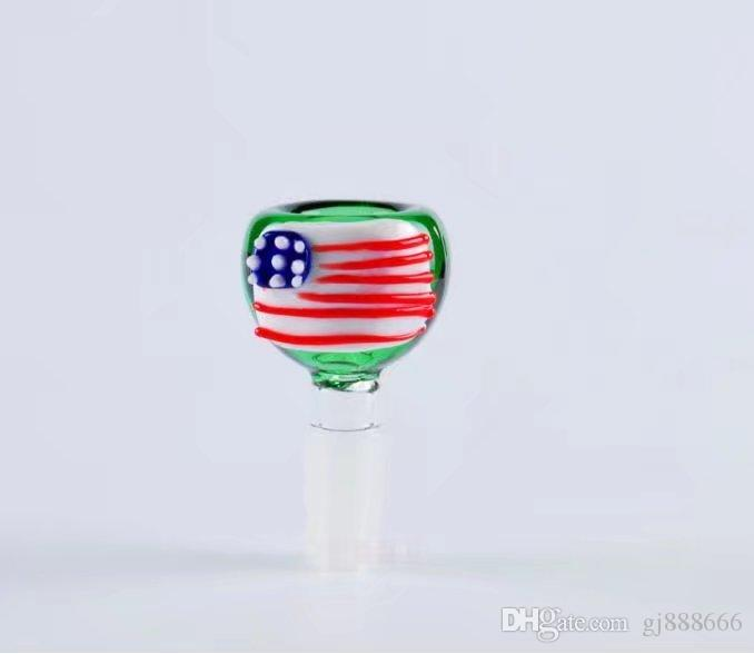 Color bubble glass bongs accessories , Glass Smoking Pipes colorful mini multi-colors Hand Pipes Best Spoon glas