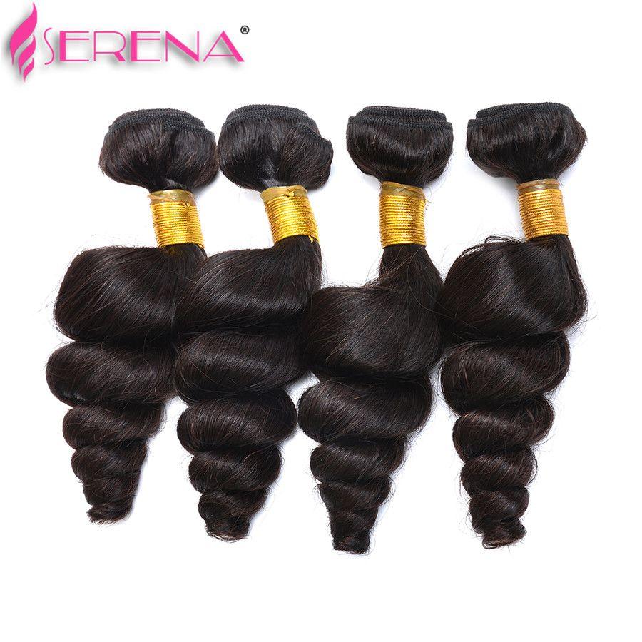 Бразильские пучки волос с закрытием бразильские девственные волосы Свободная Волна 4 пучки с закрытием 7а класса кружева фронтальной закрытия