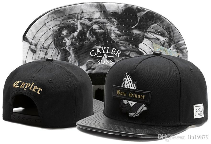 Cayler   Sons BORN SINNER God Pray Leather Baseball Caps Strapback Snakeskin  Man Bone Snapback Hats Chapeu Outdoor Gorras Men Baby Cap Embroidered Hats  From ... be57a645c30