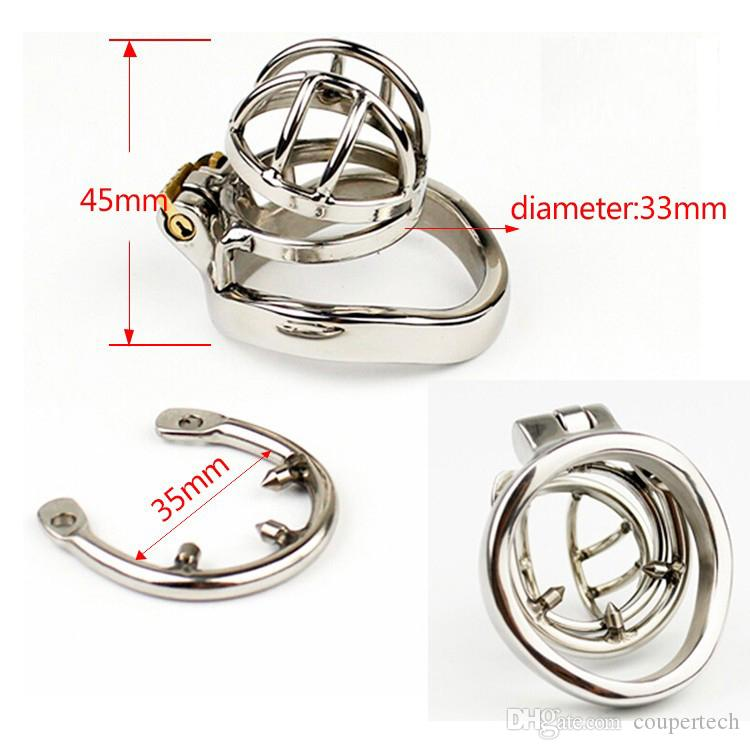 Latest Design Super Small Male Bondage Chastity Device Stainless Steel Cock Cage SM Fetish BDSM Sex Toys CPA273-1