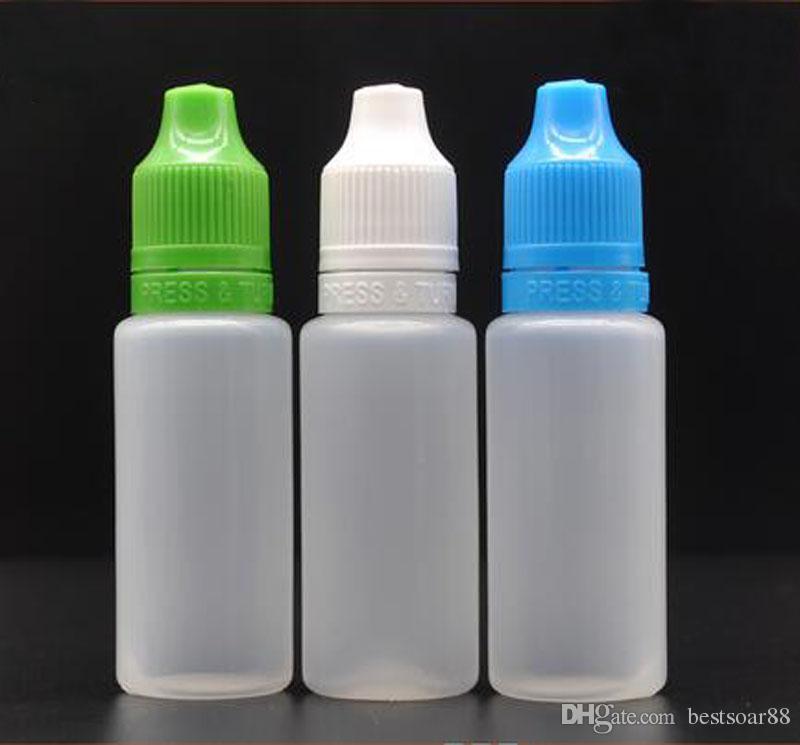 In Stock!! PE Empty Bottle 20ml Plastic Dropper Bottles Tamper Proof Caps Long Thin Needle Tip For E cig Oil Bottles