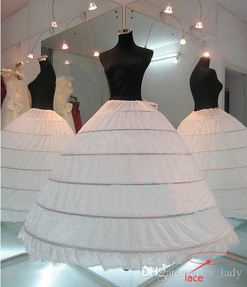2017 Hot Sale White Wedding Gown Petticoat 6 Hoops Cheap Ball Gown ...