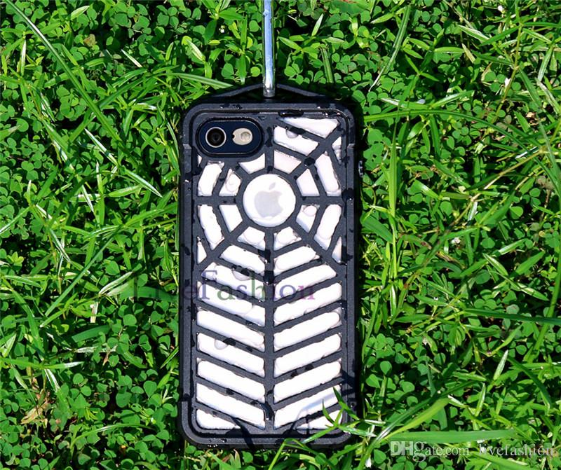 Spider Phone Cases Isolated Dirt And Dust Waterproof Durable For Military Use Case Cover Spider Pattern Cell Phone Cases For Iphone 7 7 Plus