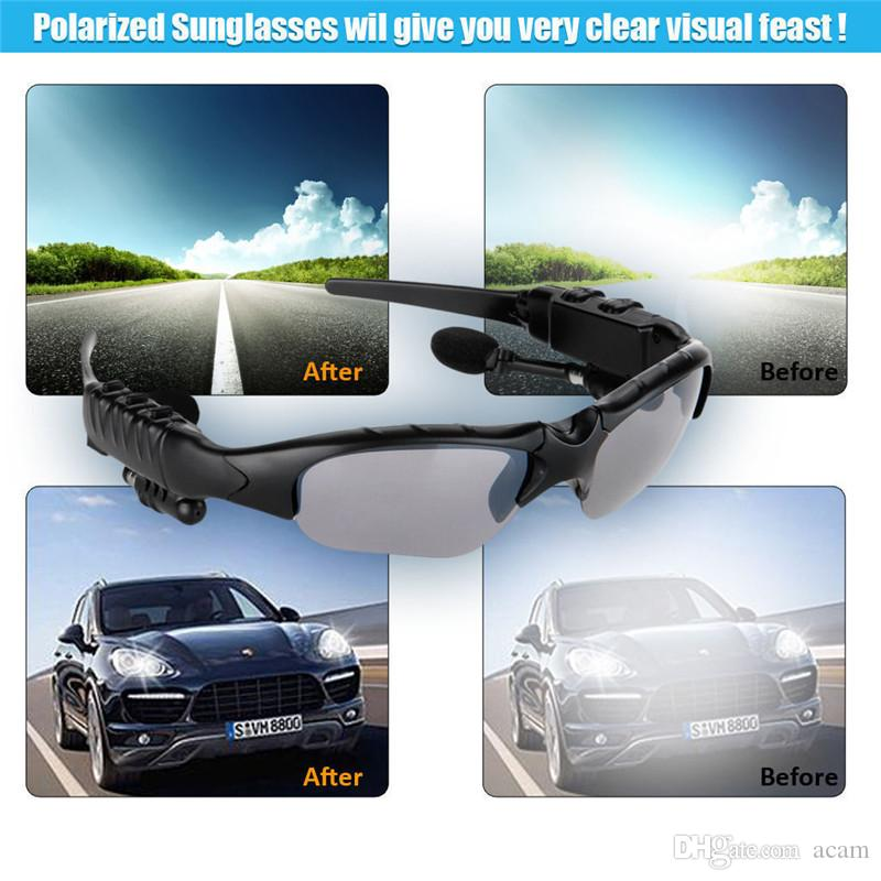 Bluetooth Sunglasses Wireless Headsets Music Glasses Headphones Polarized Goggles Stereo Hand-free Phone Answer for Outdoor