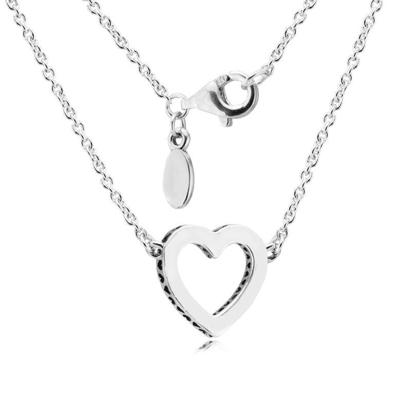San Valentino Cuori amorosi Con Clear CZ collana ciondoli gioielli in argento sterling gioielli donna fare collana chorker con fascino