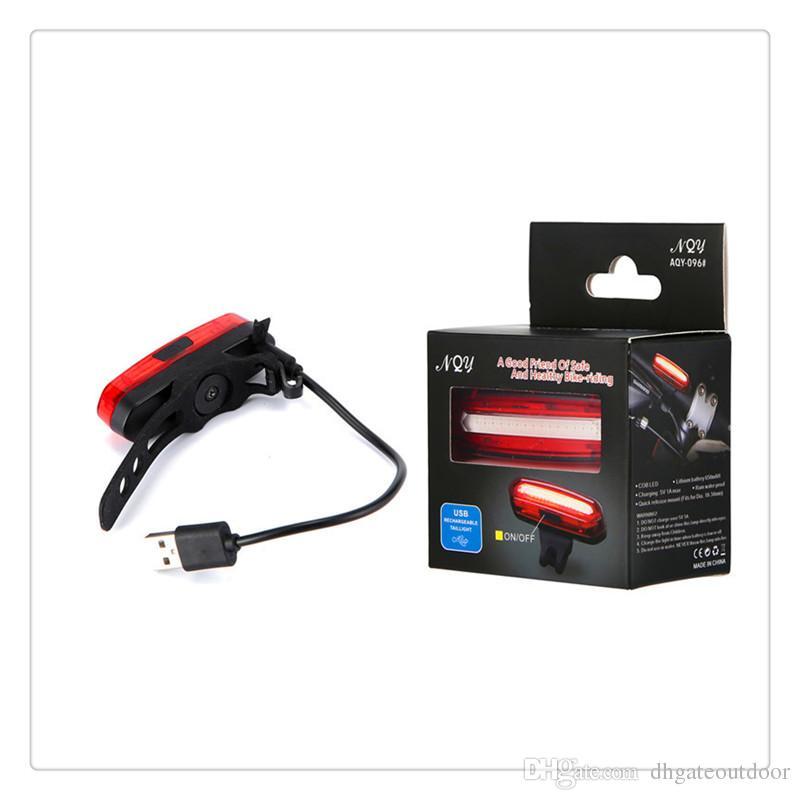 Yüksek Kalite LED Bisiklet Işık Su Geçirmez USB Şarj Edilebilir Ultra Parlak Güvenlik Bisiklet Uyarı Kuyruk Işık Ücretsiz Kargo