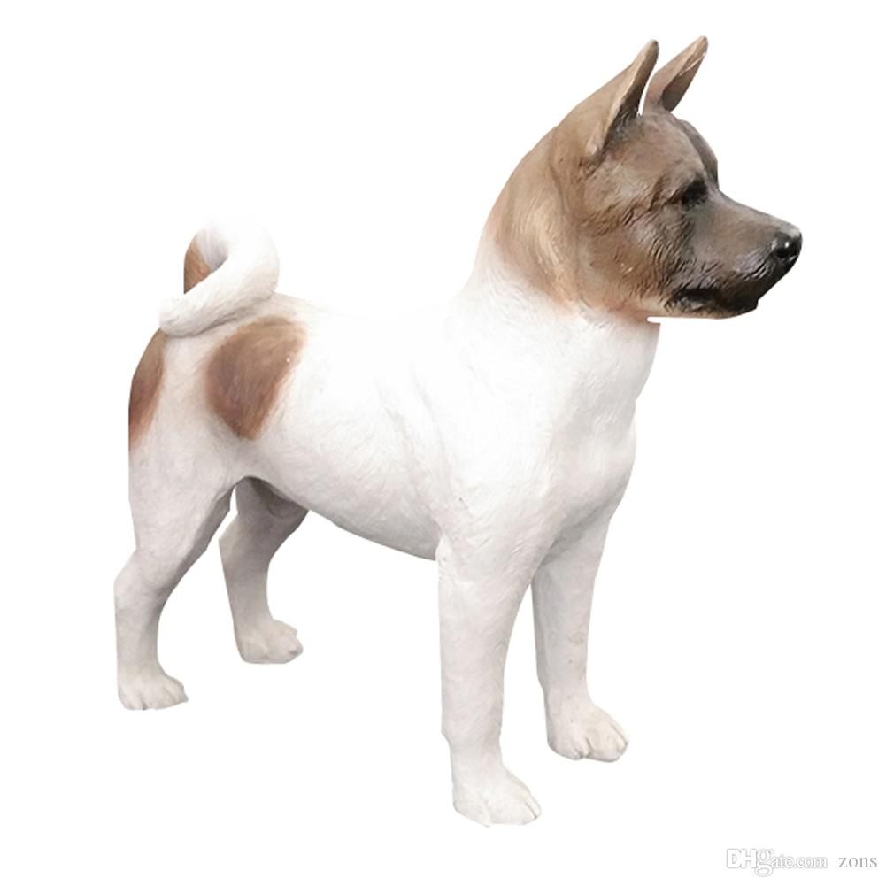 Resin Crafts Simulation Model Of Japanese Akita Resin Puppy Statue For Home Decoration Collectable Gift for Dog Lovers