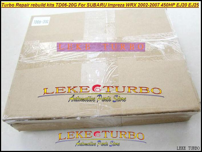 Turbocharger Turbo Repair Kits rebuild kits TD06 20G TD06-20G TD06-20GHW For SUBARU Impreza WRX 2002-2007 MAX HP 450HP EJ20 EJ25