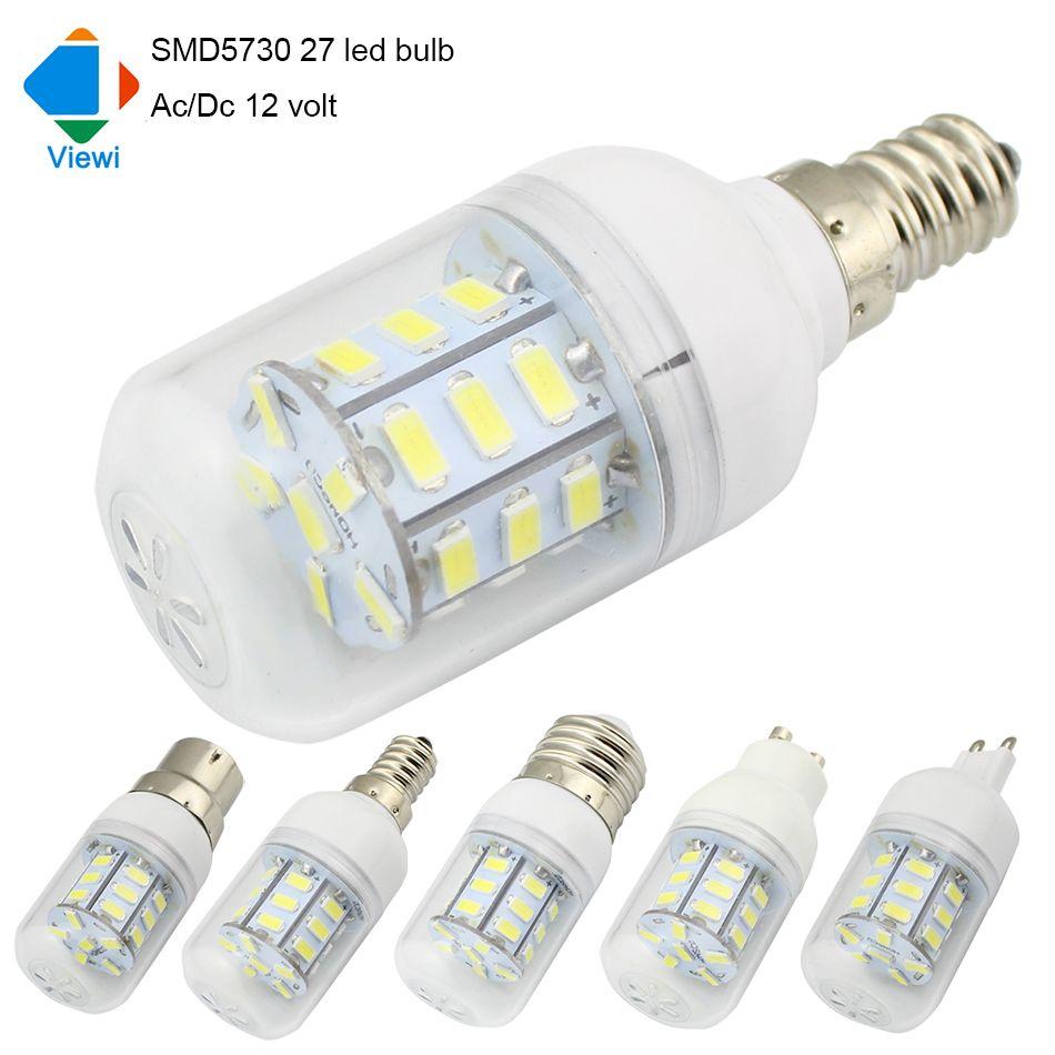5X led light bulbs 12 volt E27 E12 E14 B22 GU10 G9 Ac/Dc 12v bulb lamp 5630smd 27leds energy saving solar lighting
