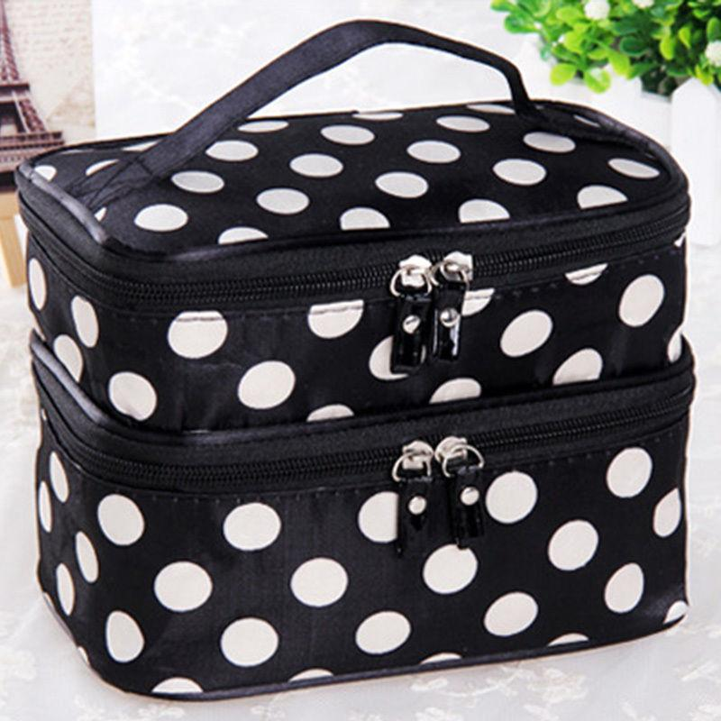 eeb9338ca88 2018 Wholesale Women Make Up Bag Toiletry Holiday Travel Pouch Makeup  Storage Double Deck Tools From Godefera,  34.48   Dhgate.Com