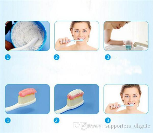Denti uso alimentare Polvere dentifricio in pasta di bambù Dentifricio Orale Cura Igiene Pulizia naturale attivato carbone organico dente Giallo Macchia DHL