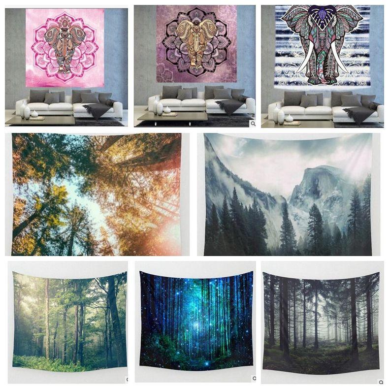 India Hippie Tapestry Print Wall Hanging Mandala Beach Towel