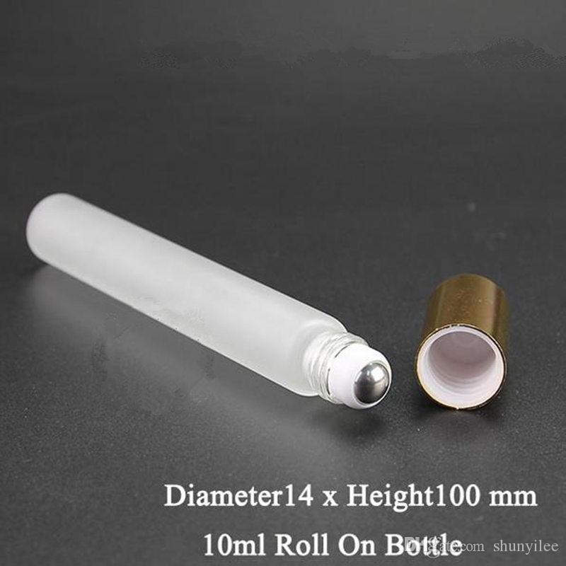 10ML Frosted Glass Roll On Bottle Rfillable In Bottle Essential Oil Glass Roller Ball Frangrance Perfume F20171383