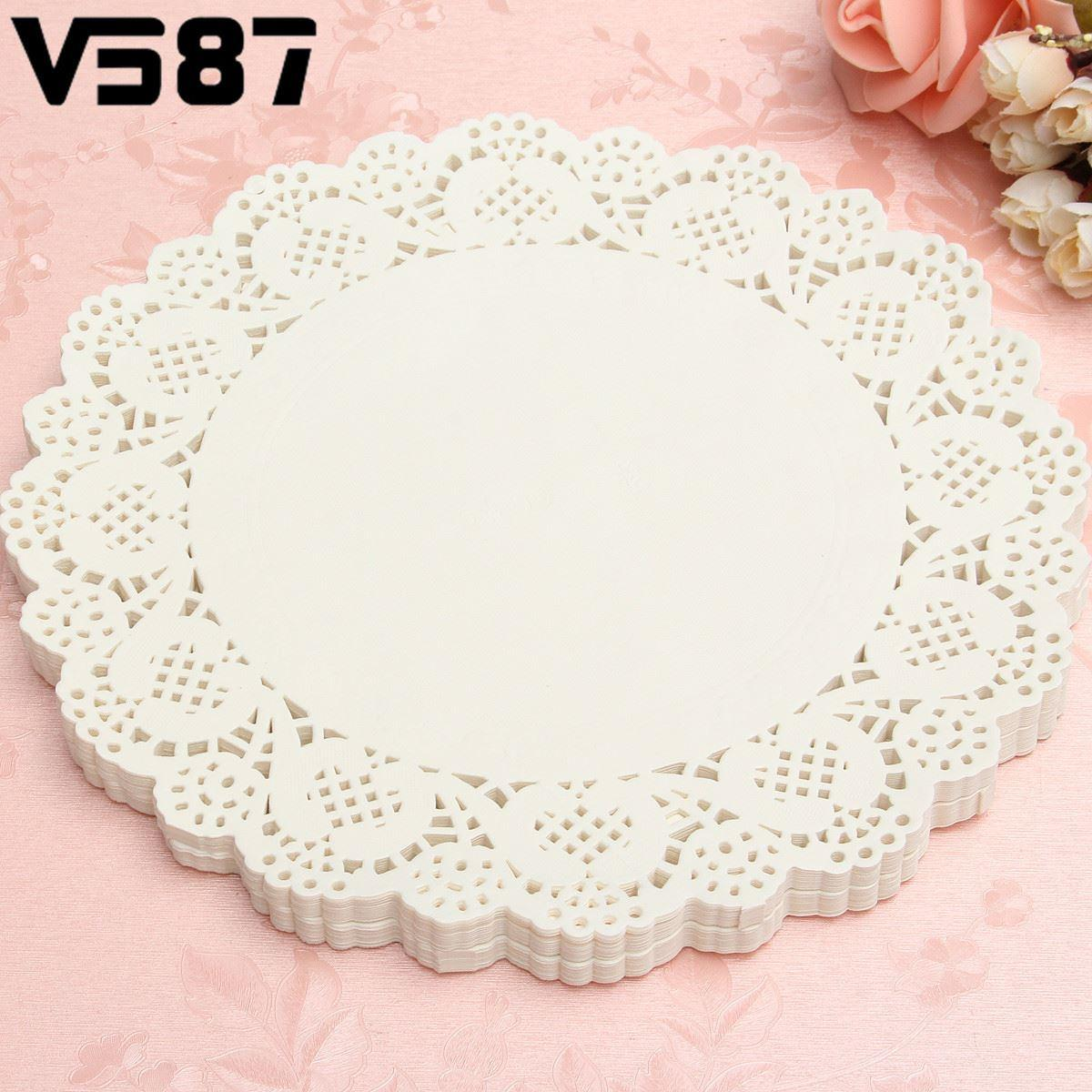 Wholesale- Round Lace Paper Coasters Cake Placemats Drinkware ...