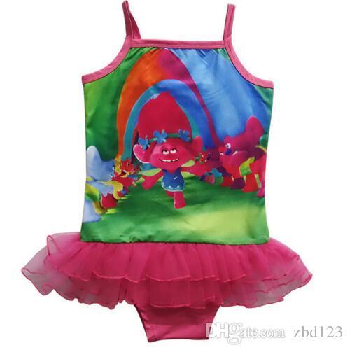 d2e48e287ffbc 2019 Baby Girls Swimwear Summer Kids One Piece Swimsuit Trolls Children Bathing  Suit Kids Girls Bikini Swim Suit Bathers From Zbd123, $8.55   DHgate.Com