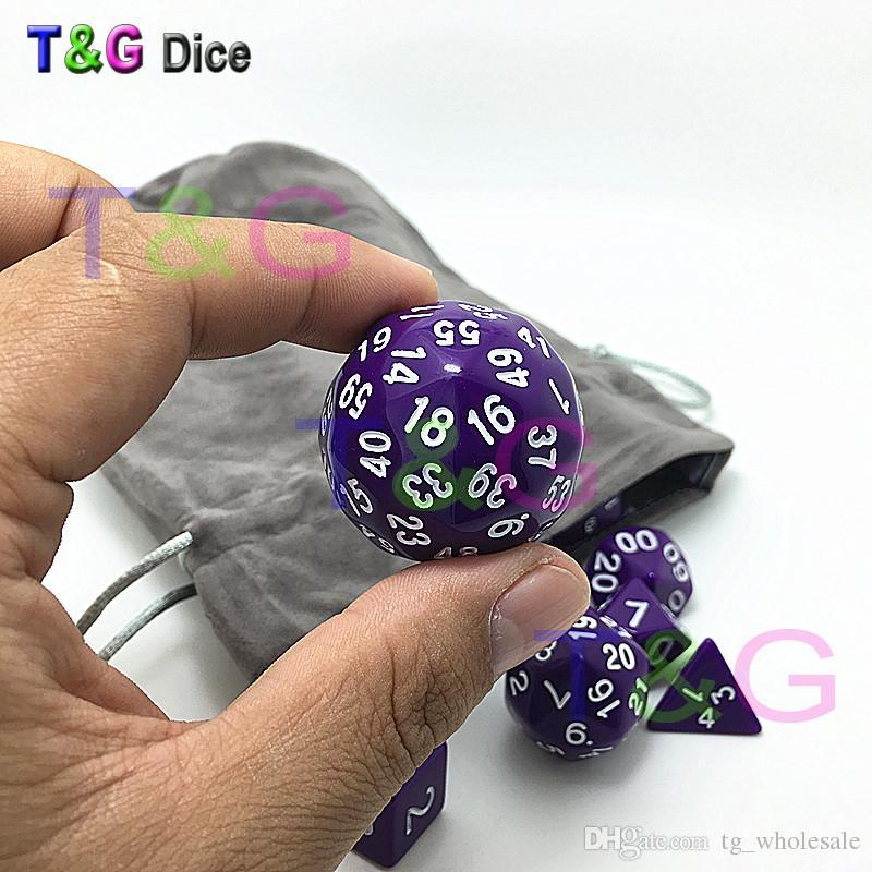 Wholesale /bag Dice Set T&G High quality d4,d6,d8,2xd10,d12,,d20,d24,d30,d60 dice rpg dungeon dragons d&d board game dados