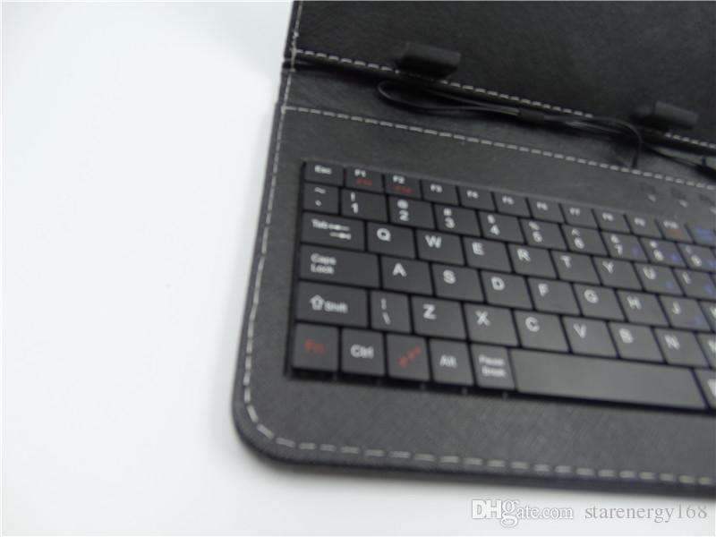 168 DHL Leather Case with Micro USB Interface Keyboard for 7 inch MID Tablet PC A-JP