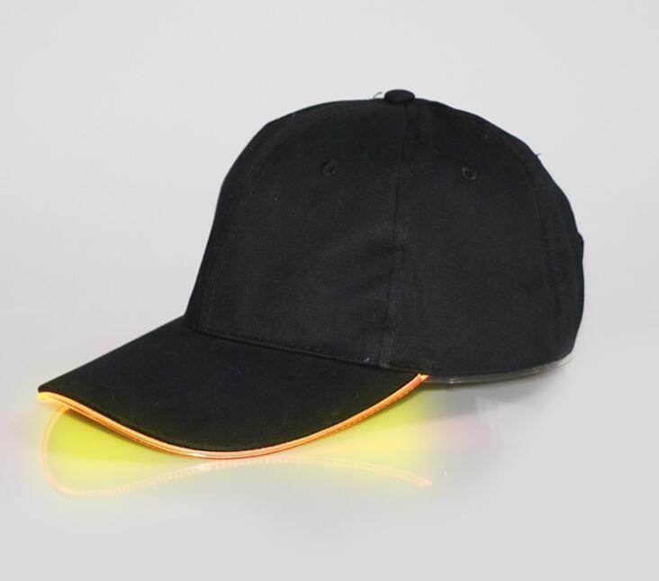Светодиодные Hat Glow Hat черная ткань для взрослых бейсболки светящиеся 7 цветов для выбора регулировки размера Xmas партия